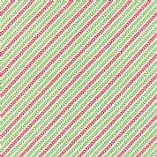 Moda North Woods by Kate Spain - 4819 - Garland, Diagonal Stripe Leaf Print, Green & Red - 27248 21 - Cotton Fabric
